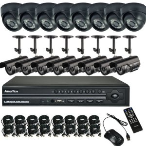 ArmorView® 16 Channel CH Weatherproof SHARP CCD 36IR Security Camera DVR System With 1TB HDD