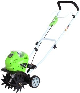 GreenWorks 27062 GMAX 4.0-Amp Hour Cordless Lithium Ion Cultivator