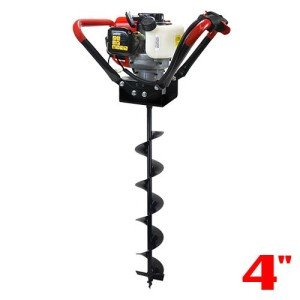 Best one-man post hole auger: XtremepowerUS V-Type 55CC 2 Stroke