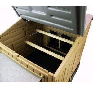 Formex Snap Lock Chicken Coop - easy to access and clean.
