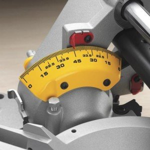 DEWALT DWS782 Miter Saw - Easy to use stops makes work faster and more precise.