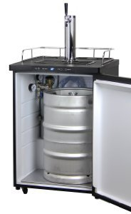 The Kegco K309B-1 Digital Kegerator can fit all types of full kegs and half or 5-gallon kegs.