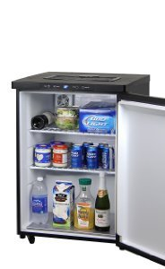 Store food or beverages in the Kegco K309B-1 between parties.