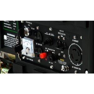 DuroStar DS4400EHF Hybrid power panel outlets