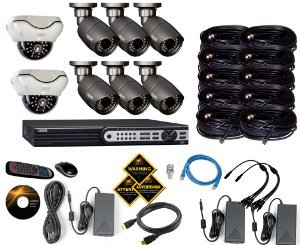 he Q-See QT718-8F4-2 8-Channel 1080p SDI Surveillance DVR System comes with everything you need to get running.