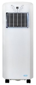 The NewAir AC-10100E is an unusually small & compact 10000 BTU portable air conditioner.